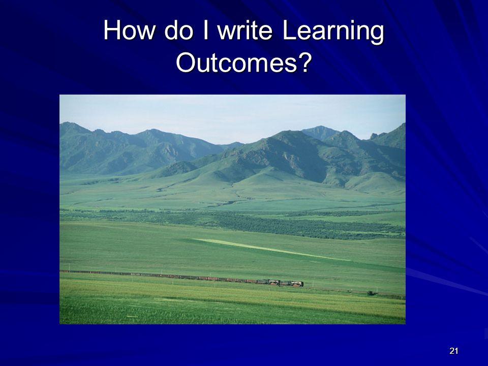 How do I write Learning Outcomes