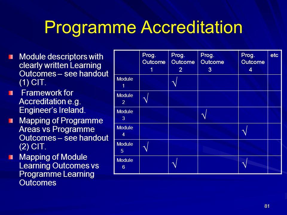 Programme Accreditation