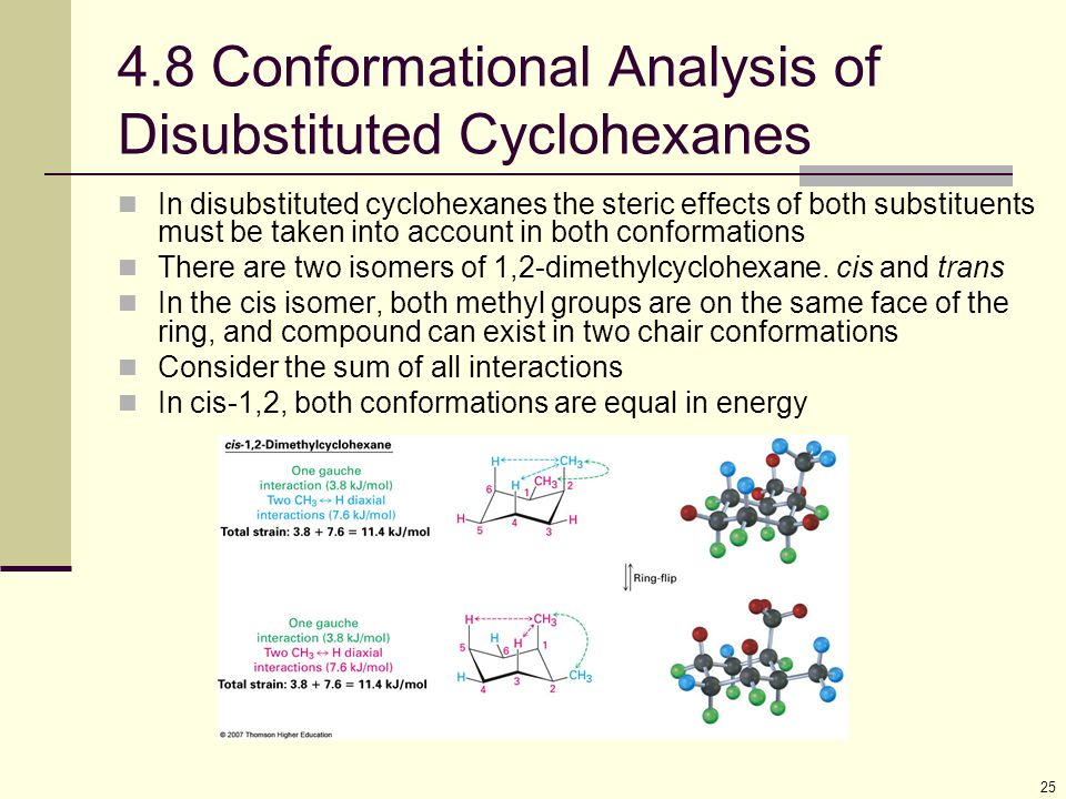 4.8 Conformational Analysis of Disubstituted Cyclohexanes