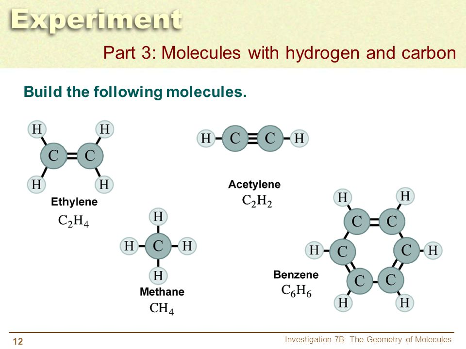 Part 3: Molecules with hydrogen and carbon