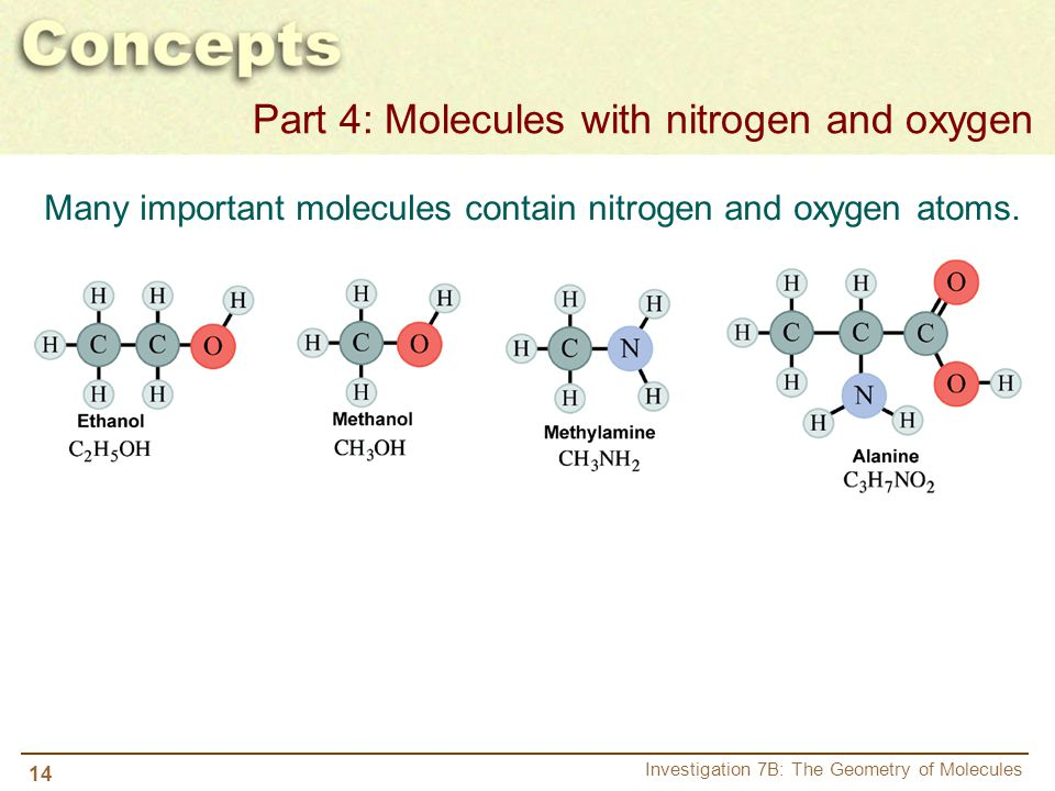 Part 4: Molecules with nitrogen and oxygen