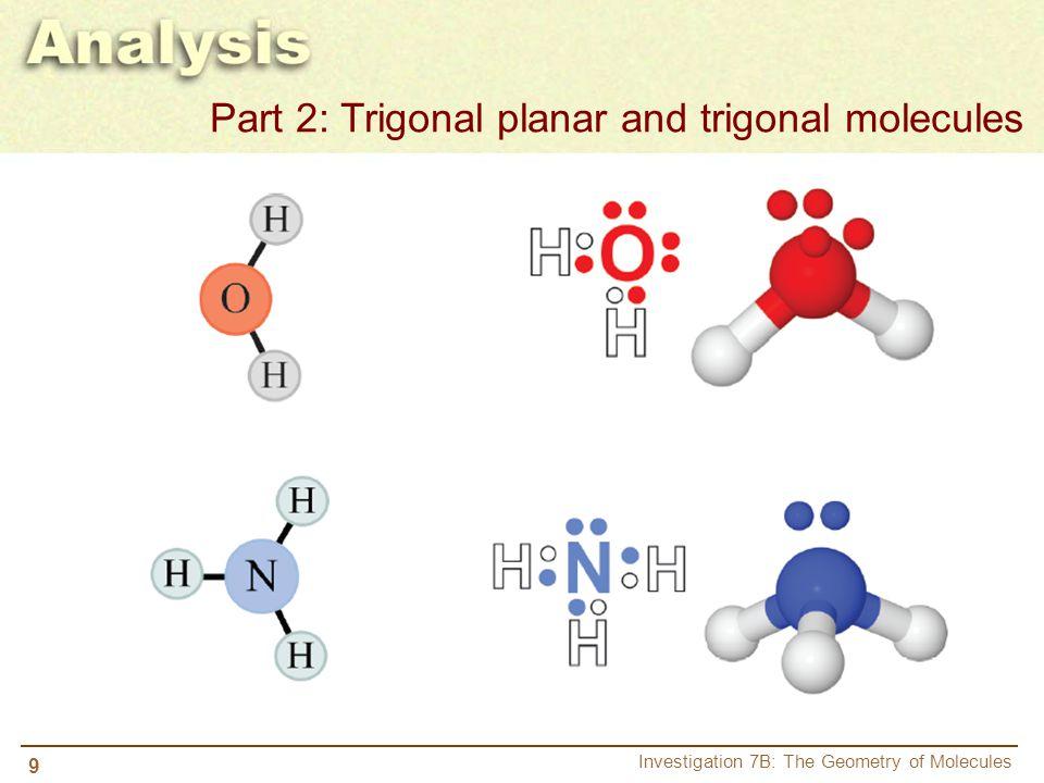 Part 2: Trigonal planar and trigonal molecules