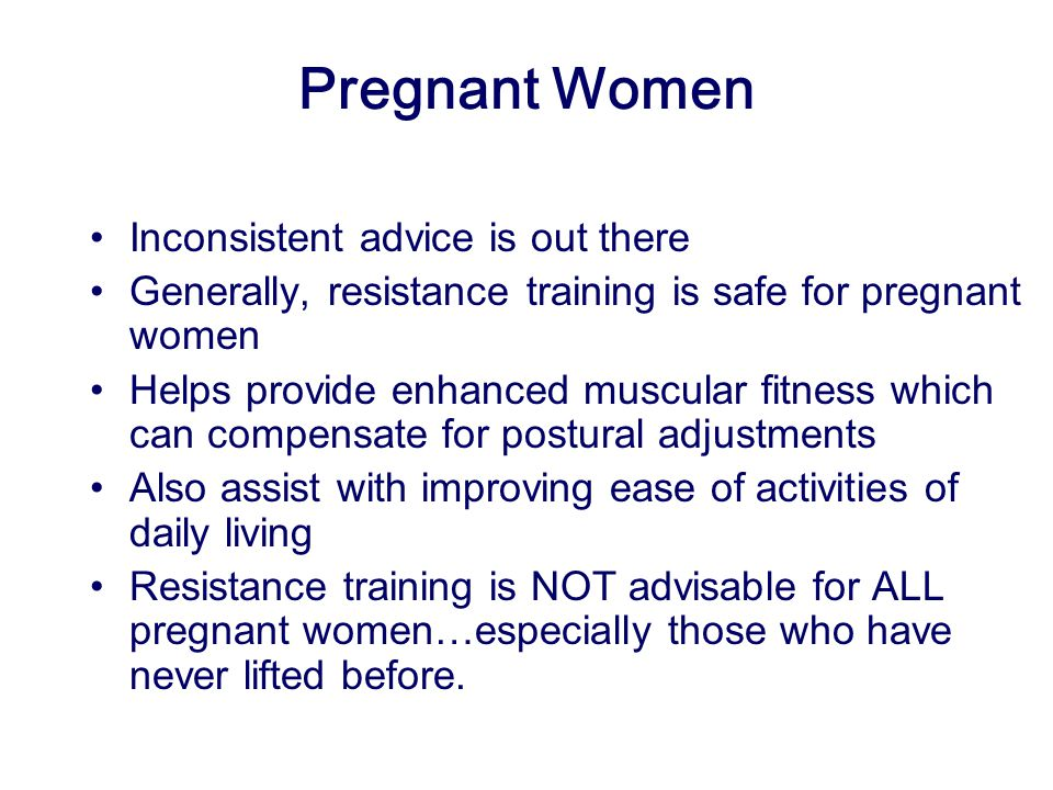 Pregnant Women Inconsistent advice is out there