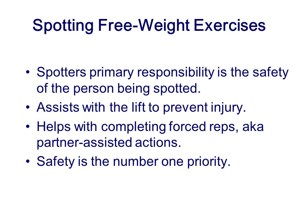 Spotting Free-Weight Exercises