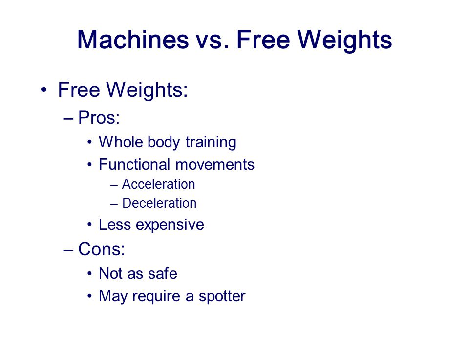 Machines vs. Free Weights