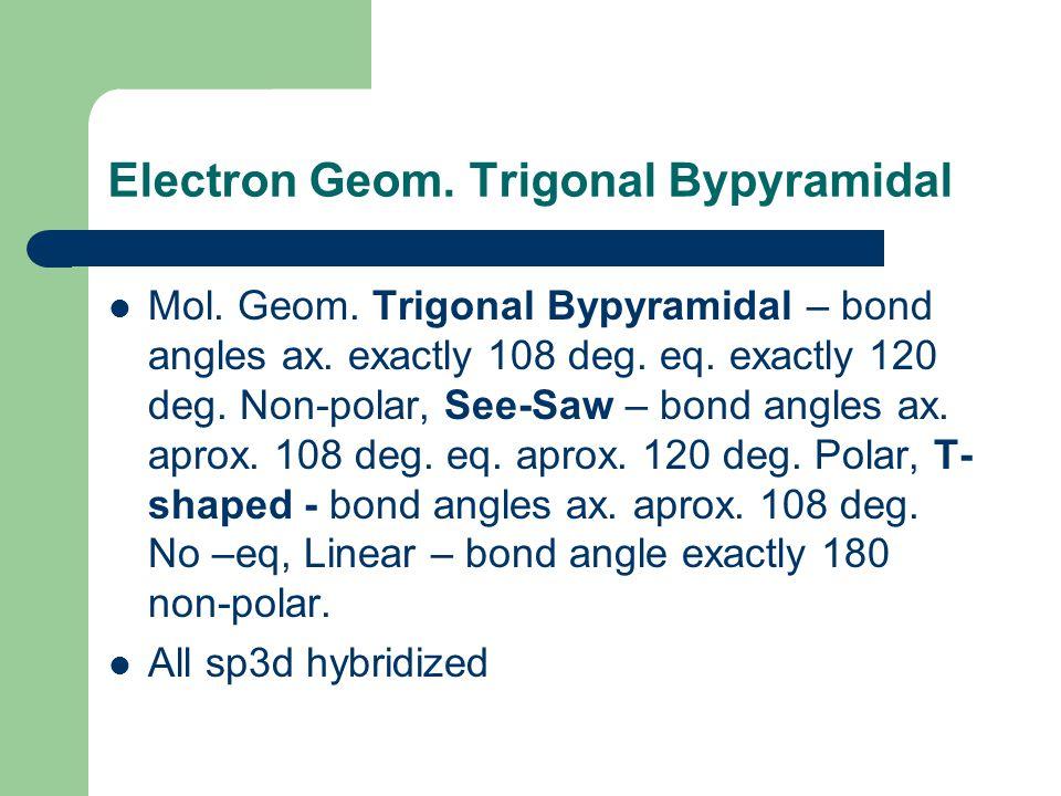 Electron Geom. Trigonal Bypyramidal