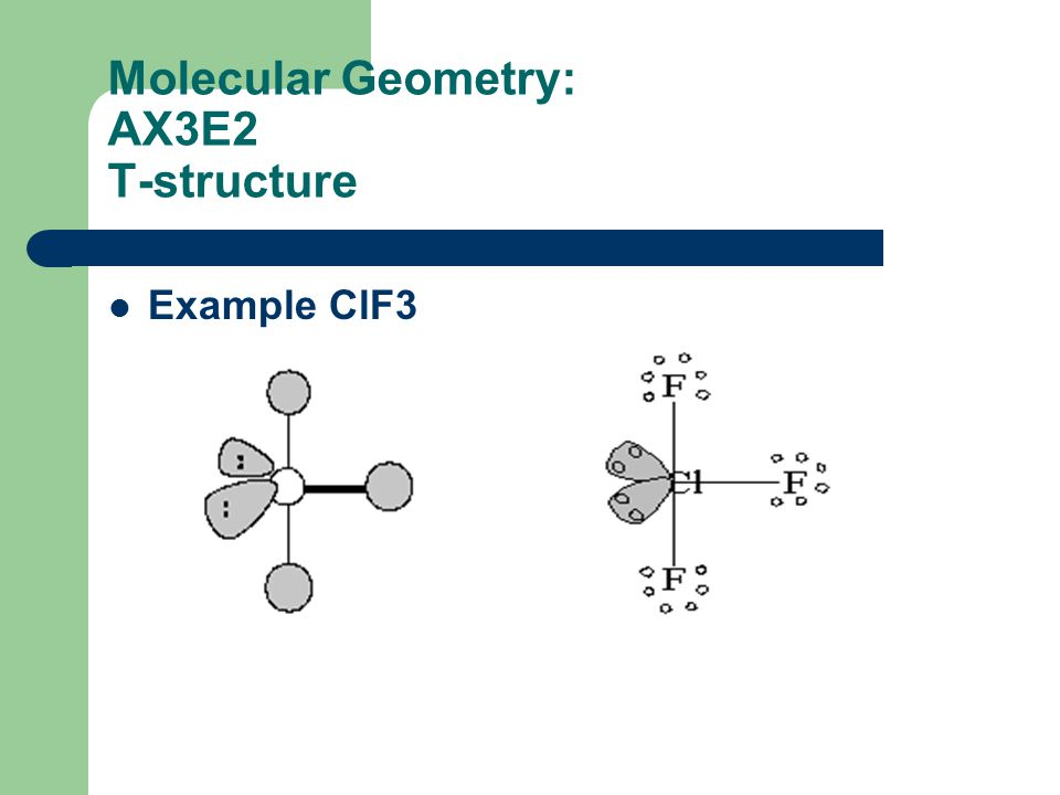 Molecular Geometry: AX3E2 T-structure