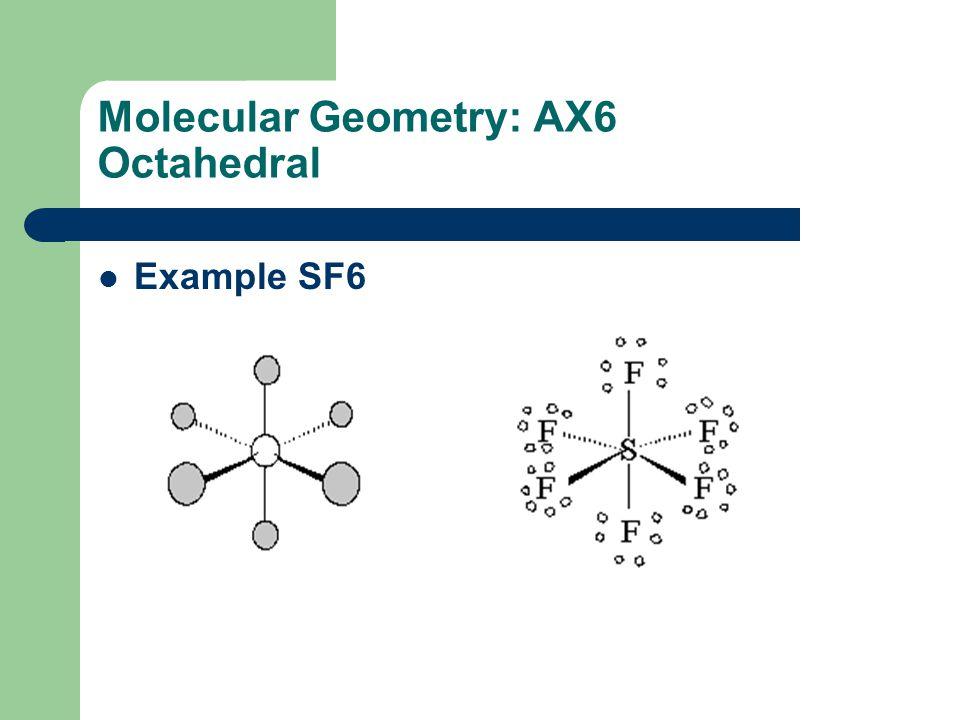 Molecular Geometry: AX6 Octahedral
