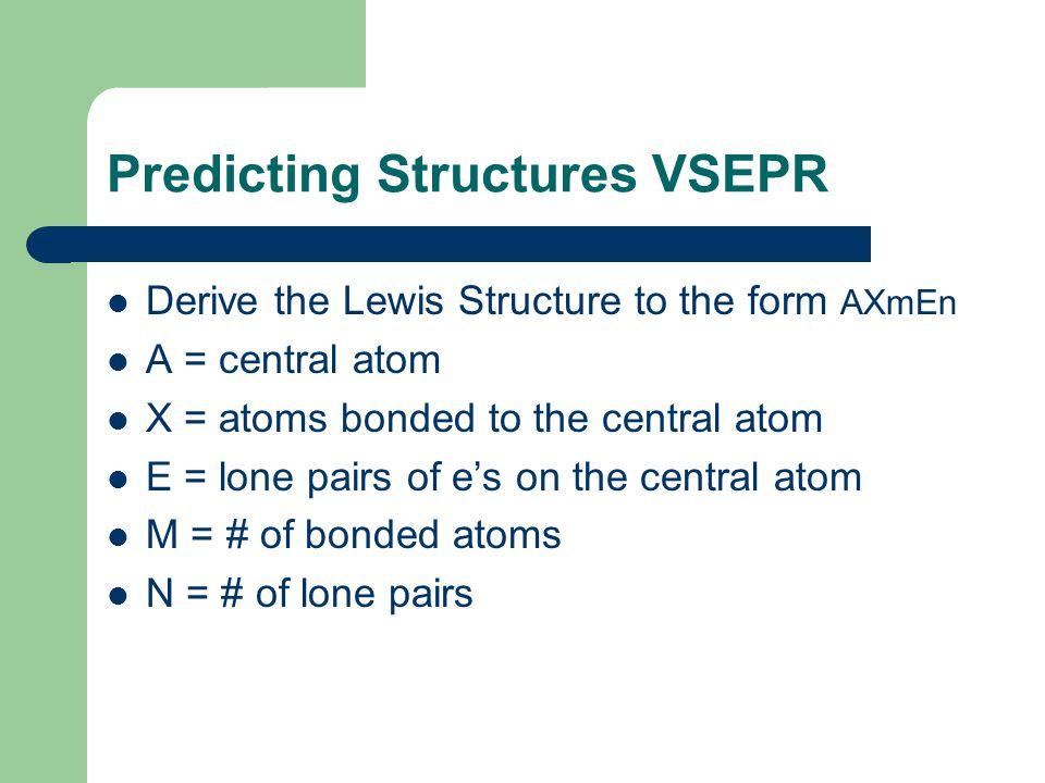 Predicting Structures VSEPR