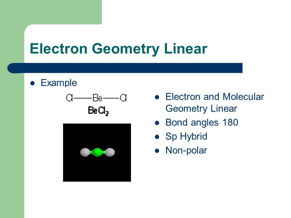 Electron Geometry Linear
