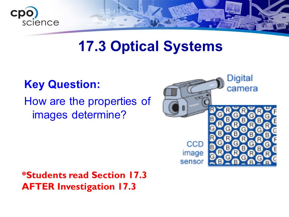 17.3 Optical Systems Key Question: