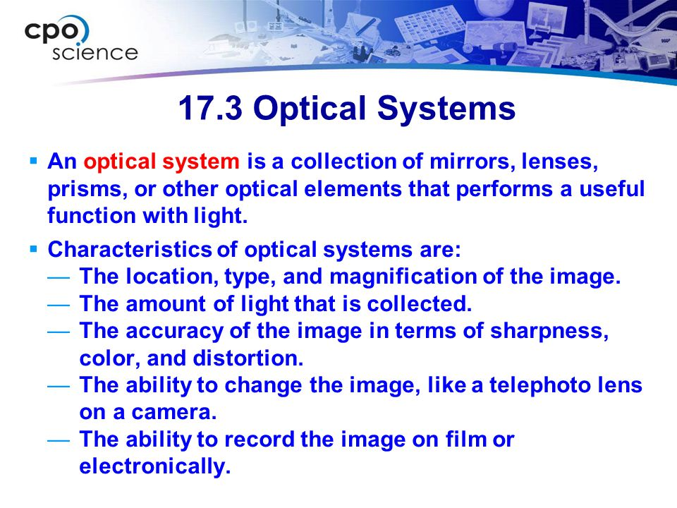 17.3 Optical Systems