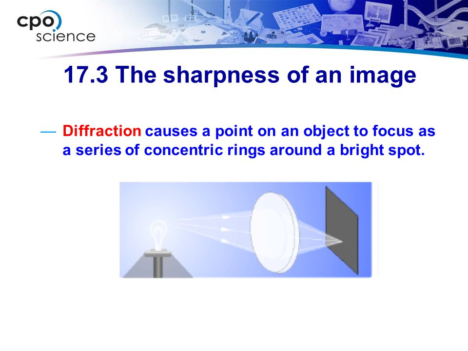 17.3 The sharpness of an image
