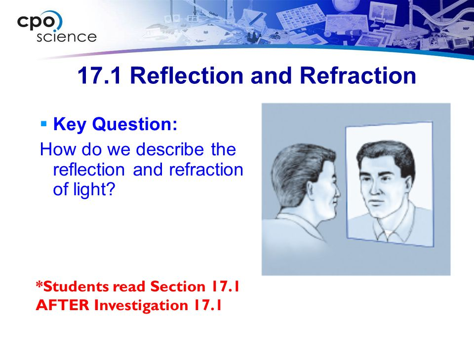 17.1 Reflection and Refraction