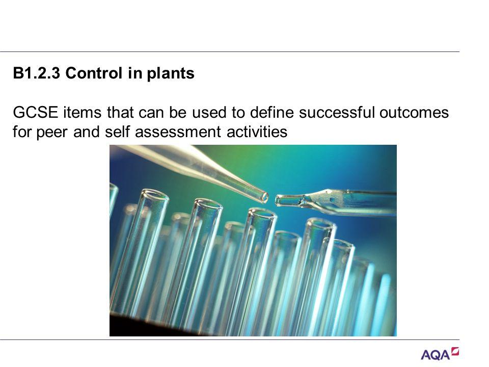 B1.2.3 Control in plants.