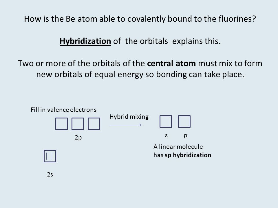 How is the Be atom able to covalently bound to the fluorines