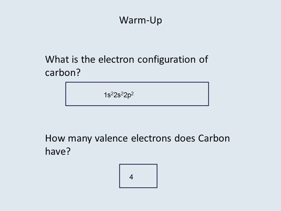 What is the electron configuration of carbon