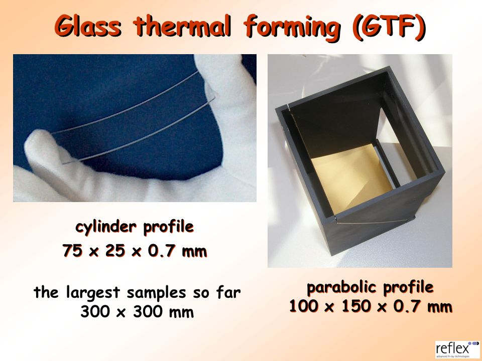 Glass thermal forming (GTF)