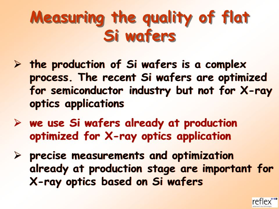 Measuring the quality of flat Si wafers