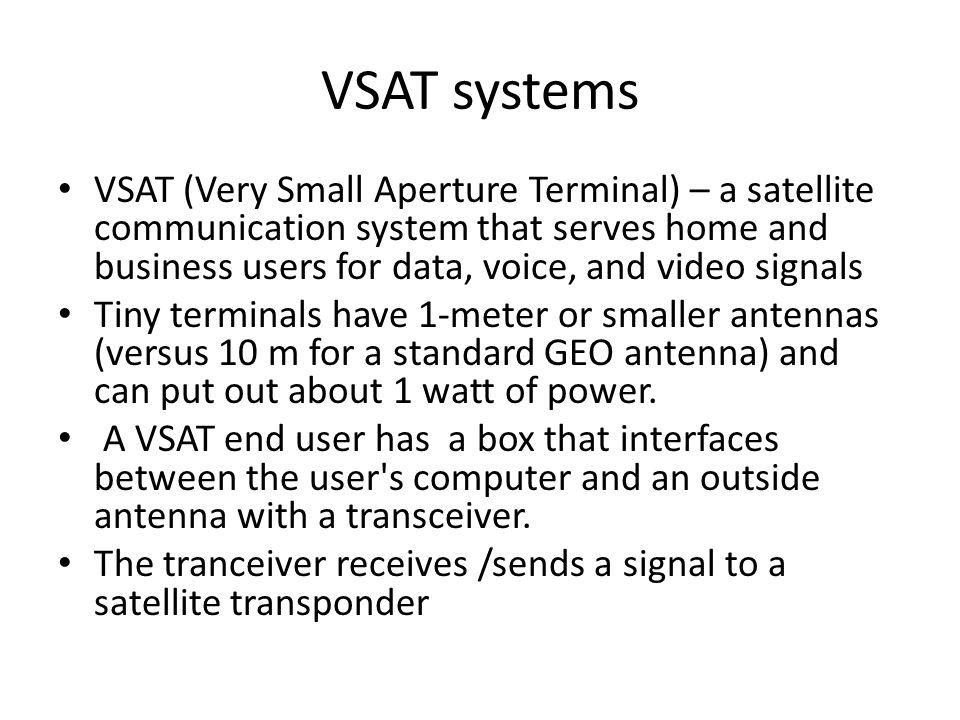 VSAT systems
