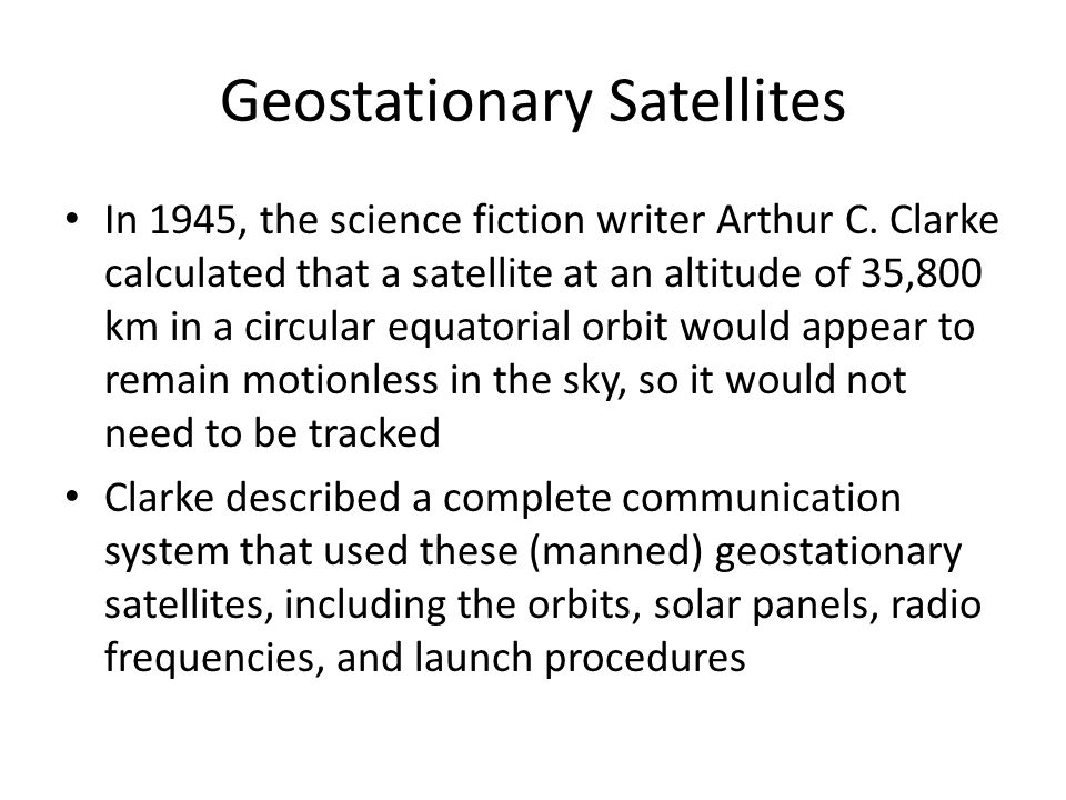 Geostationary Satellites