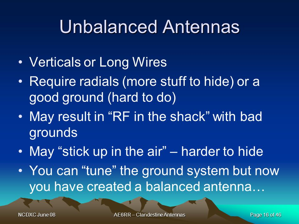 AE6RR – Clandestine Antennas
