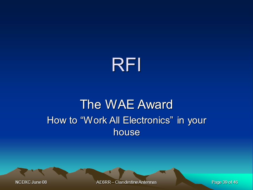 The WAE Award How to Work All Electronics in your house