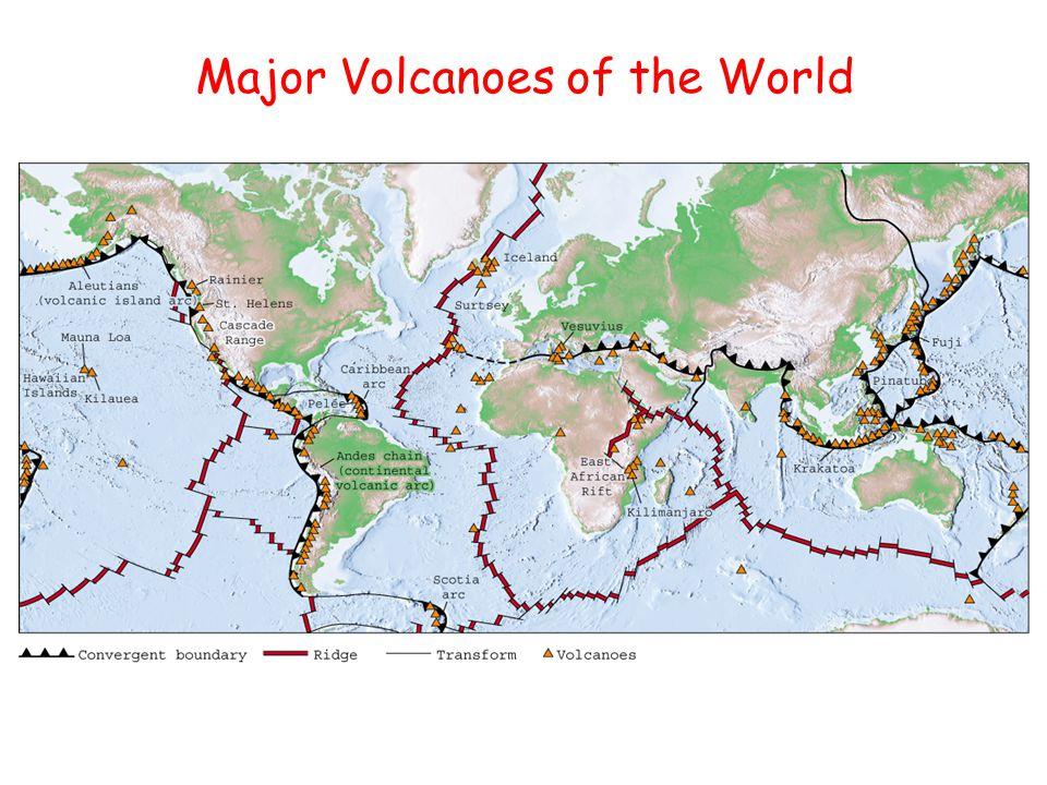 Major Volcanoes of the World