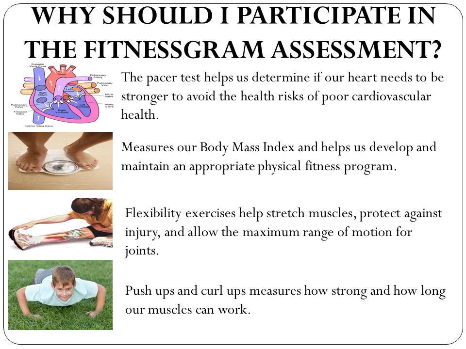 WHY SHOULD I PARTICIPATE IN THE FITNESSGRAM ASSESSMENT