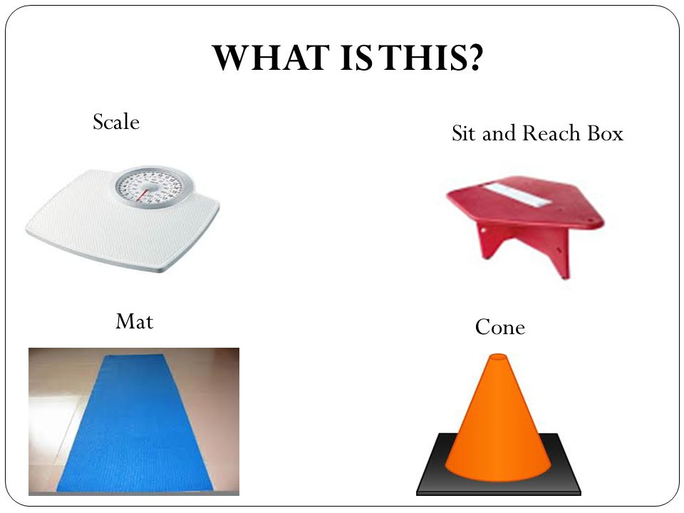 WHAT IS THIS Scale Sit and Reach Box Mat Cone