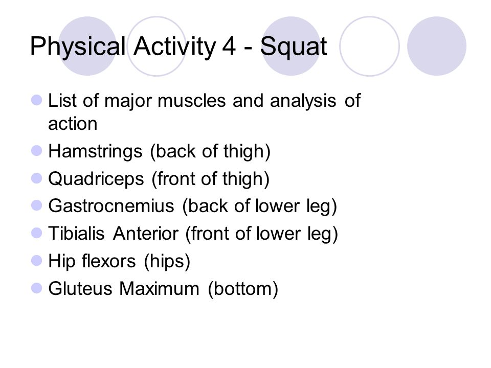 Physical Activity 4 - Squat