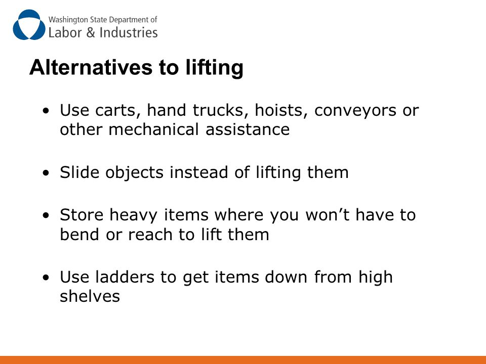 Alternatives to lifting