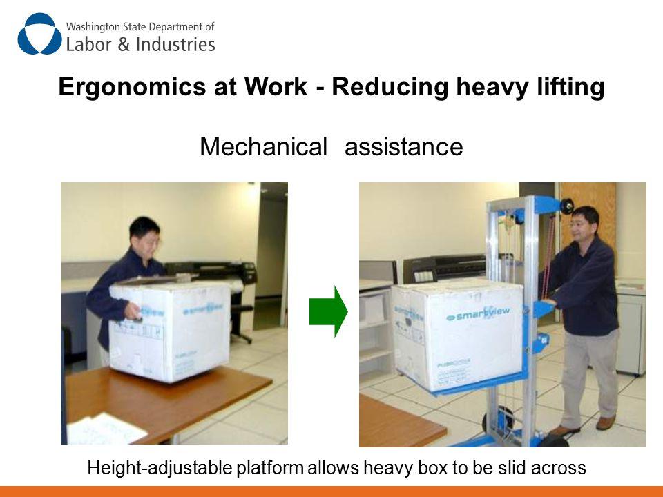 Ergonomics at Work - Reducing heavy lifting