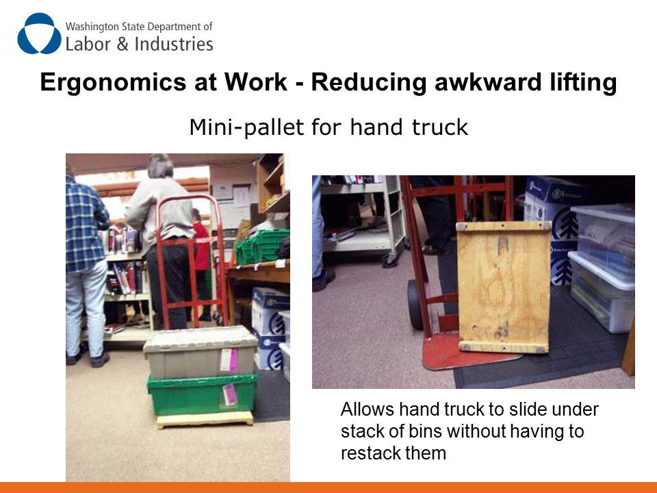Ergonomics at Work - Reducing awkward lifting