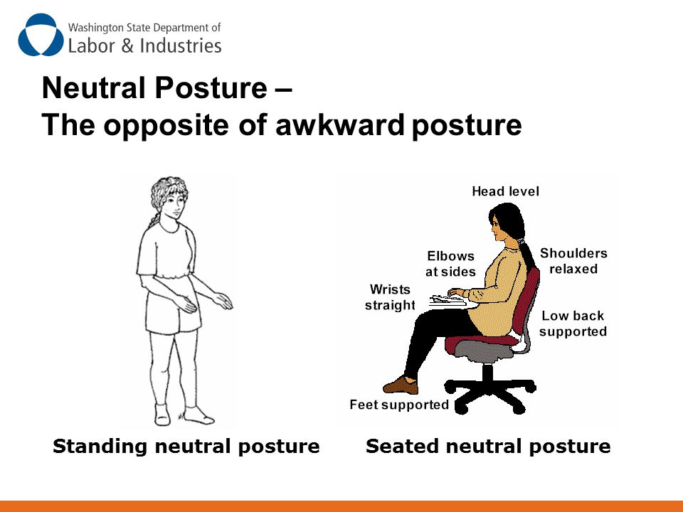 Neutral Posture – The opposite of awkward posture