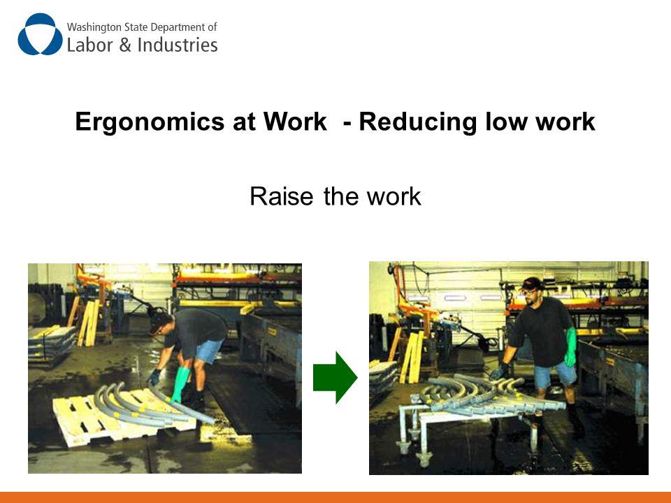 Ergonomics at Work - Reducing low work