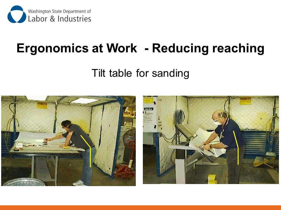 Ergonomics at Work - Reducing reaching