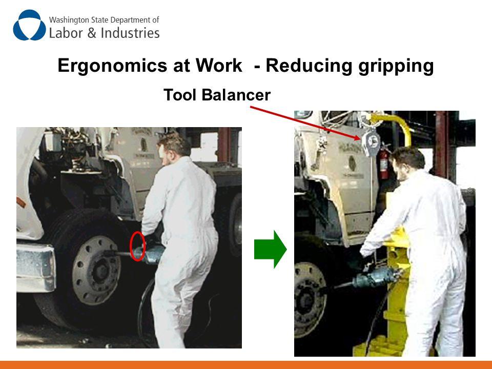 Ergonomics at Work - Reducing gripping