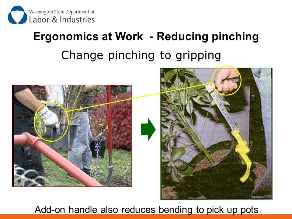 Ergonomics at Work - Reducing pinching