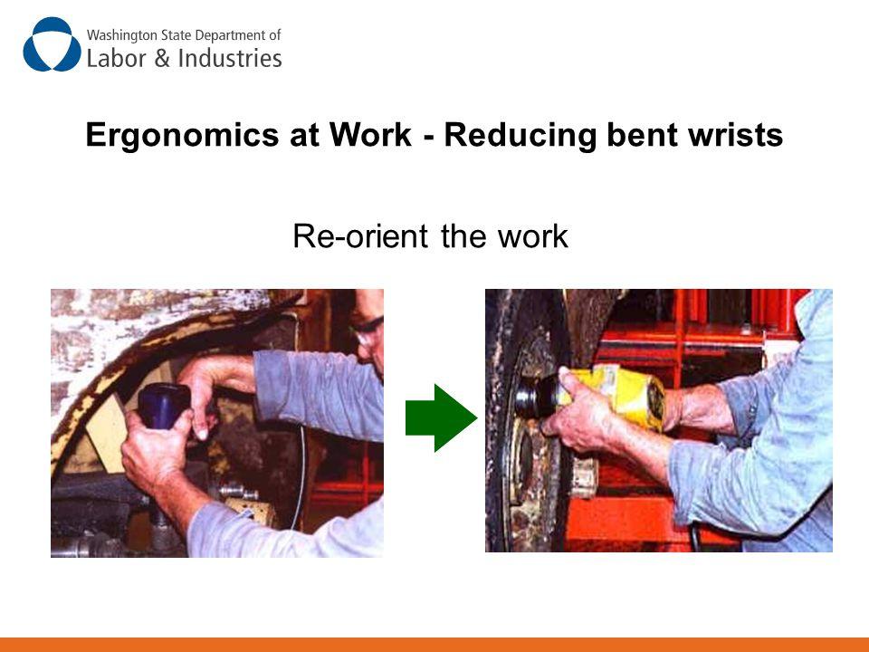 Ergonomics at Work - Reducing bent wrists