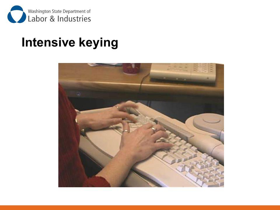 Intensive keying