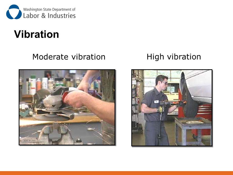 Vibration Moderate vibration High vibration