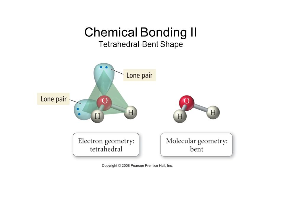 Chemical Bonding II Tetrahedral-Bent Shape