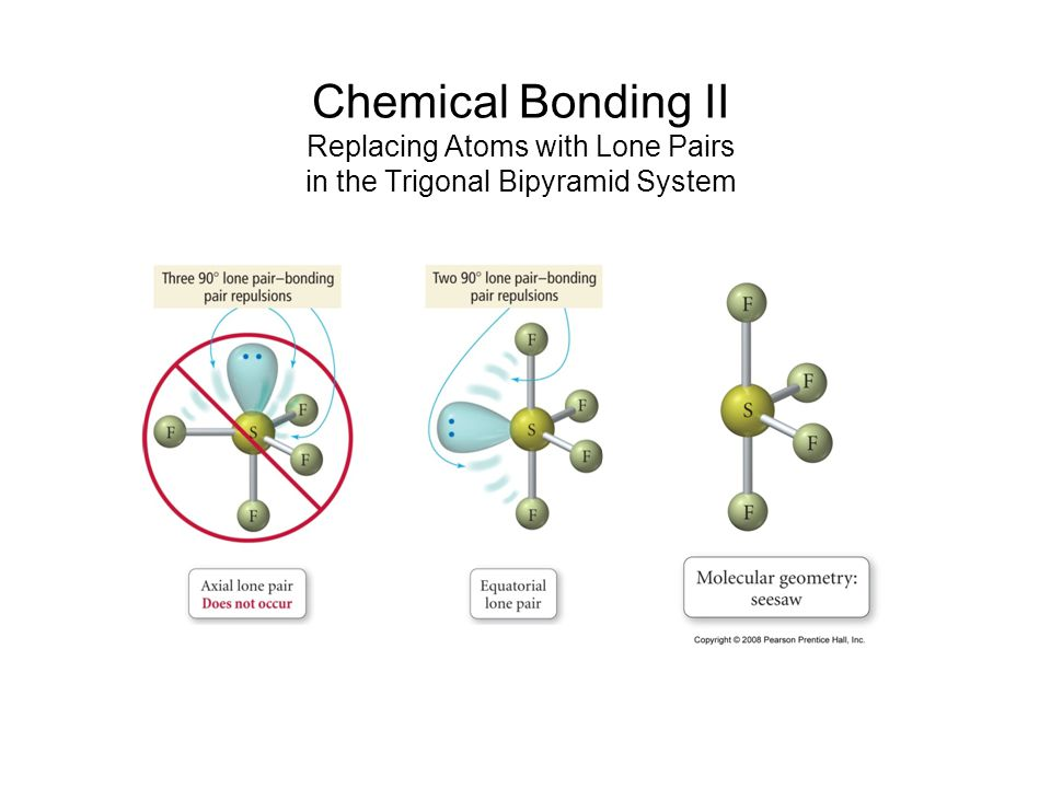 Chemical Bonding II Replacing Atoms with Lone Pairs in the Trigonal Bipyramid System