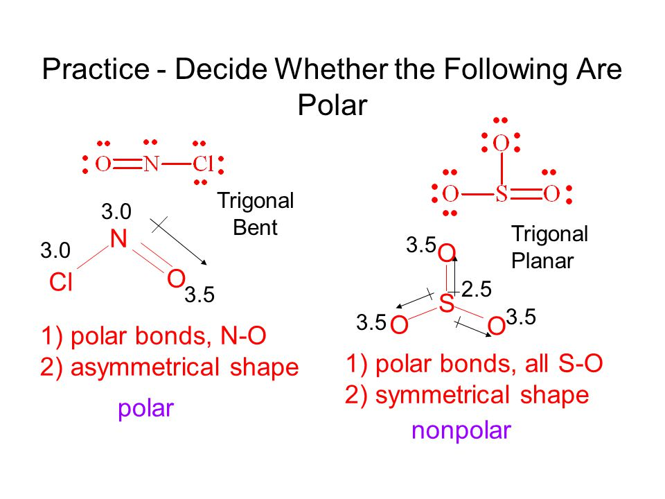 Practice - Decide Whether the Following Are Polar
