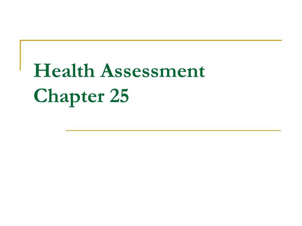 health assessment chapters 1 2 3
