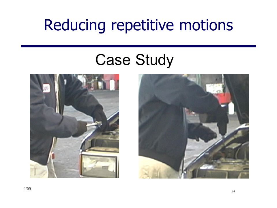 Reducing repetitive motions