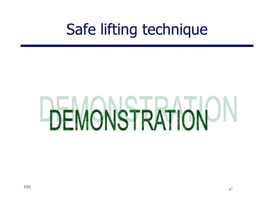 Safe lifting technique