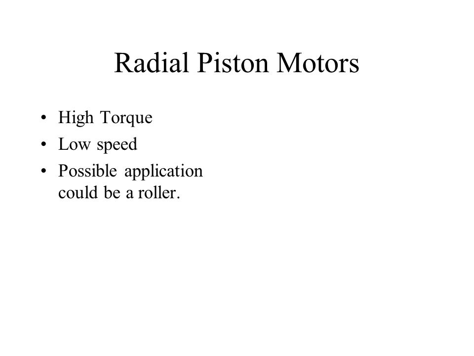 Radial Piston Motors High Torque Low speed