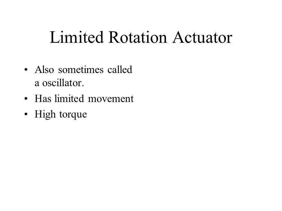 Limited Rotation Actuator